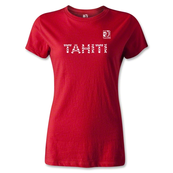 FIFA Confederations Cup 2013 Women's Tahiti T-Shirt (Red)