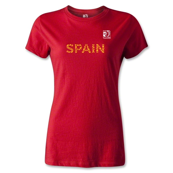 FIFA Confederations Cup 2013 Women's Spain T-Shirt (Red)