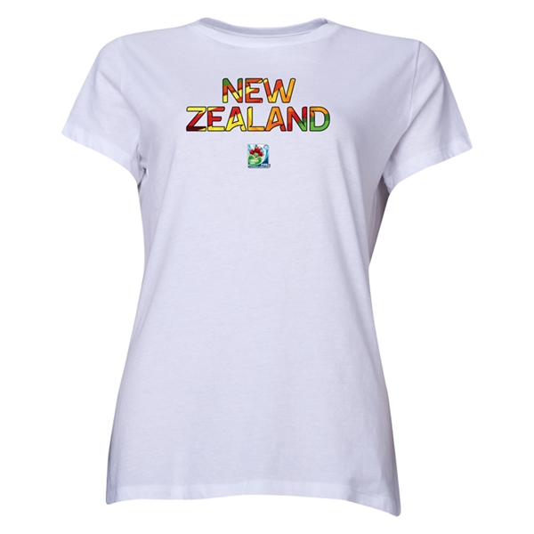 New Zealand FIFA U-20 Women's World Cup Canada 2014 Women's Core T-Shirt (White)