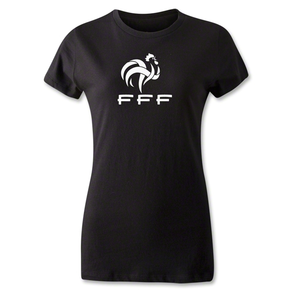 France FFF Women's T-Shirt (Black)