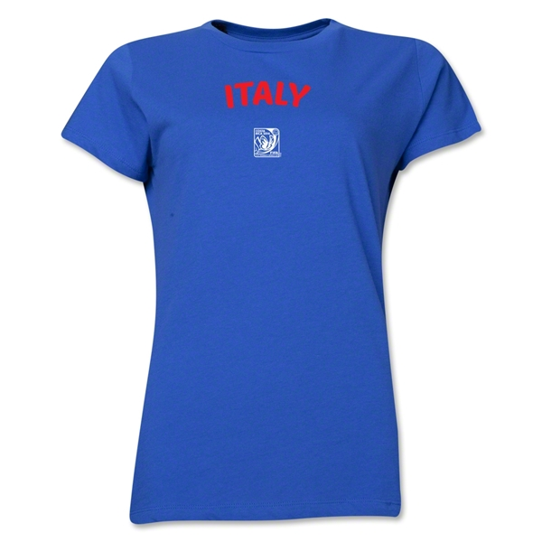 Italy FIFA U-17 Women's World Cup Costa Rica 2014 Women's Core T-Shirt (Royal)