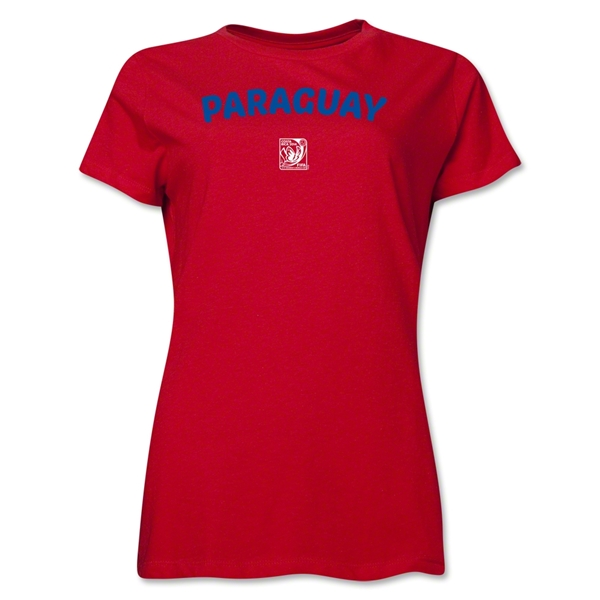 Paraguay FIFA U-17 Women's World Cup Costa Rica 2014 Women's Core T-Shirt (Red)