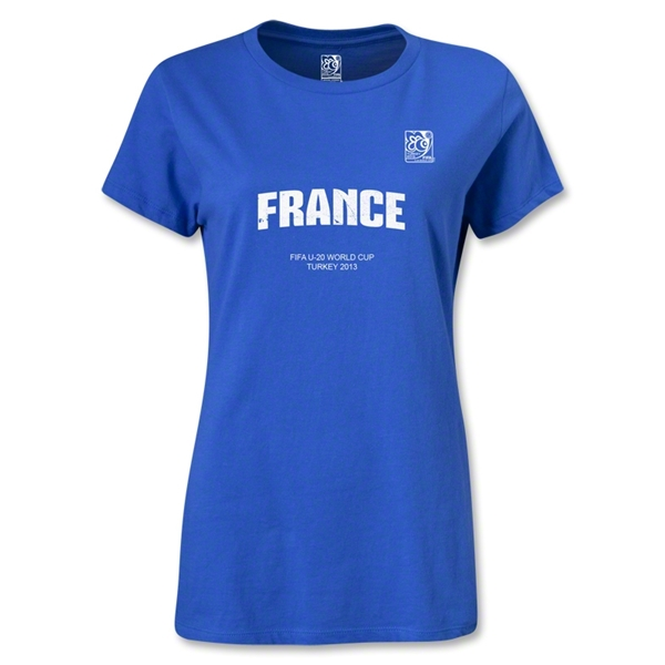 FIFA U-20 World Cup 2013 Women's France T-Shirt (Royal)