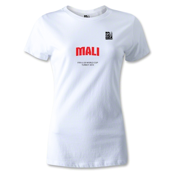 FIFA U-20 World Cup 2013 Women's Mali T-Shirt (White)