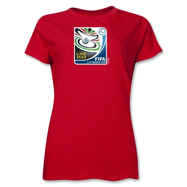 FIFA U-17 World Cup UAE 2013 Women's Official Emblem T-Shirt (Red)