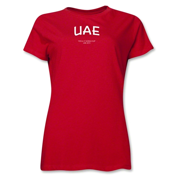 United Arab Emirates 2013 FIFA U-17 World Cup UAE Women's T-Shirt (Red)