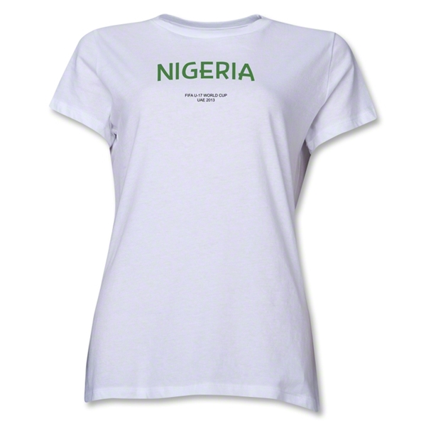 Nigeria 2013 FIFA U-17 World Cup UAE Women's T-Shirt (White)