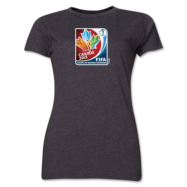 FIFA Women's World Cup Canada 2015(TM) Women's French Event Emblem T-Shirt (Dark Grey)
