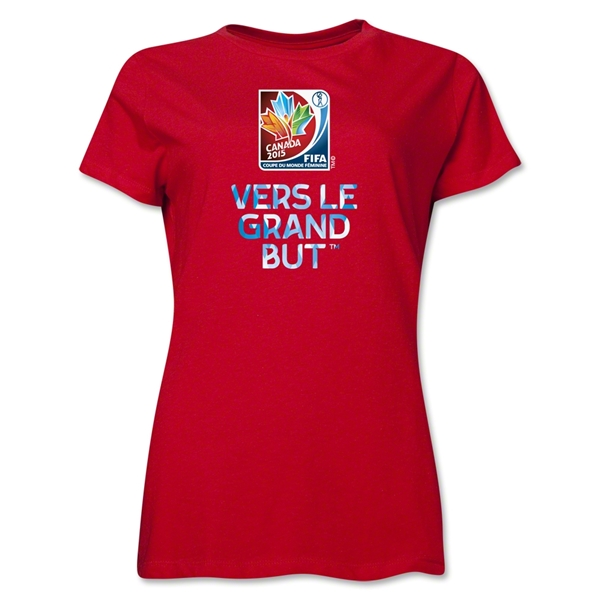 FIFA Women's World Cup Canada 2015(TM) Women's French Slogan T-Shirt (Red)