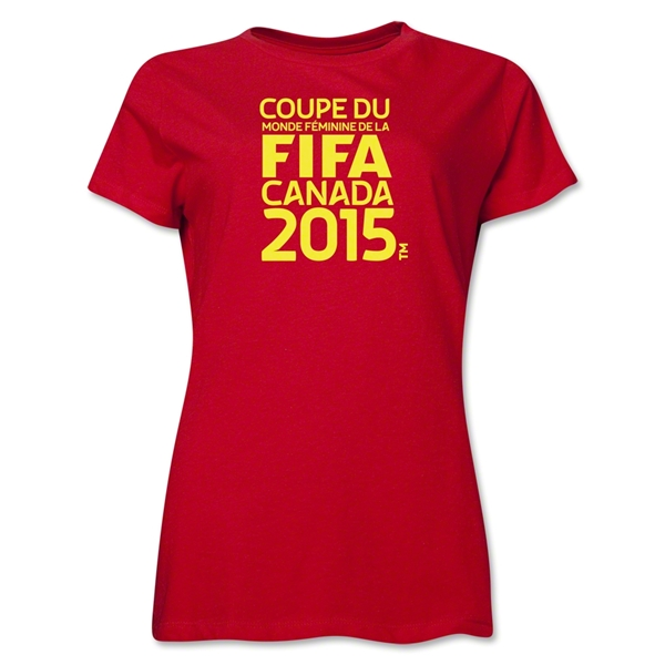 FIFA Women's World Cup Canada 2015(TM) Women's French Logotype T-Shirt (Red)