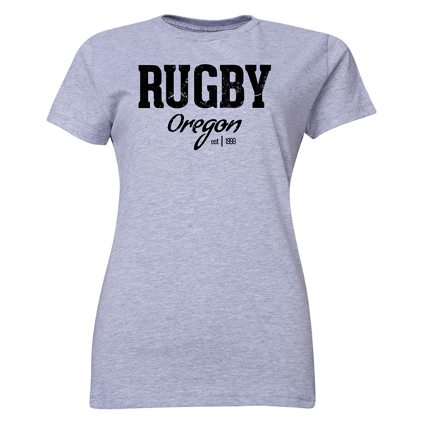 Rugby Oregon Women's T-Shirt (Gray)