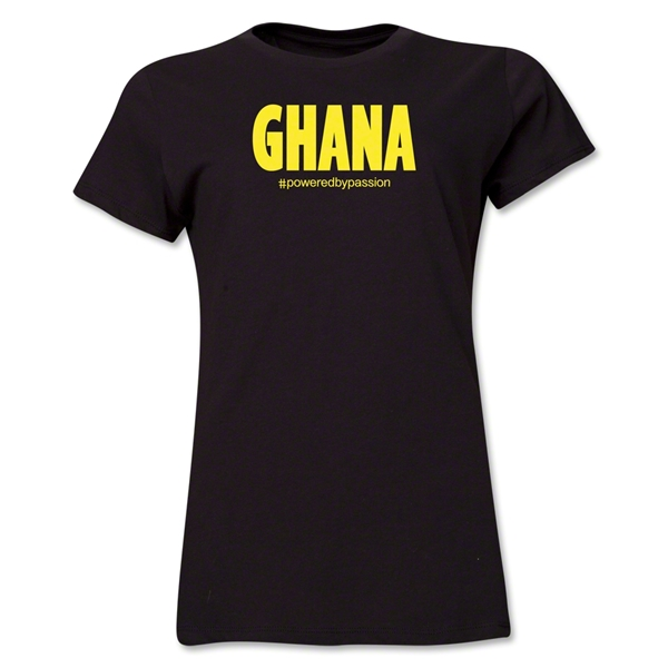 Ghana Powered by Passion Women's T-Shirt (Black)