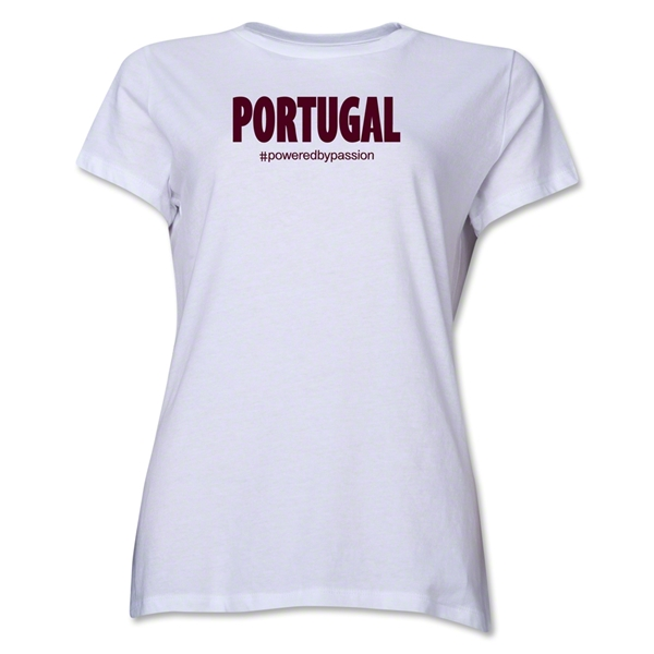 Portugal Powered by Passion Women's T-Shirt (White)