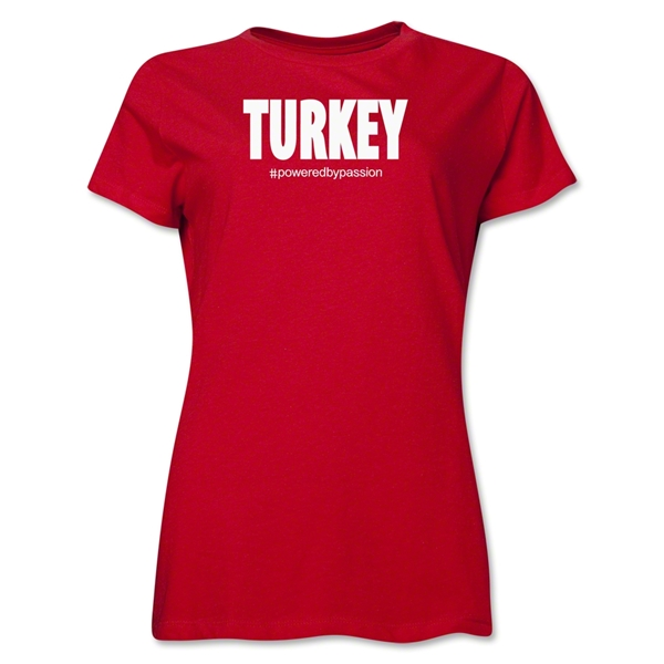 Turkey Powered by Passion Women's T-Shirt (Red)