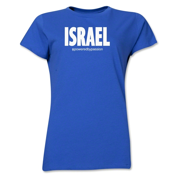 Israel Powered by Passion Women's T-Shirt (Royal)