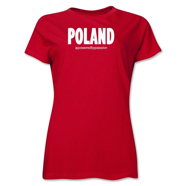 Poland Powered by Passion Women's T-Shirt (Red)