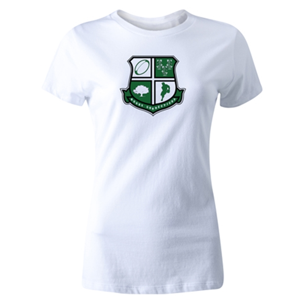 Rugby Connecticut Women's Cut Shield T-Shirt (White)