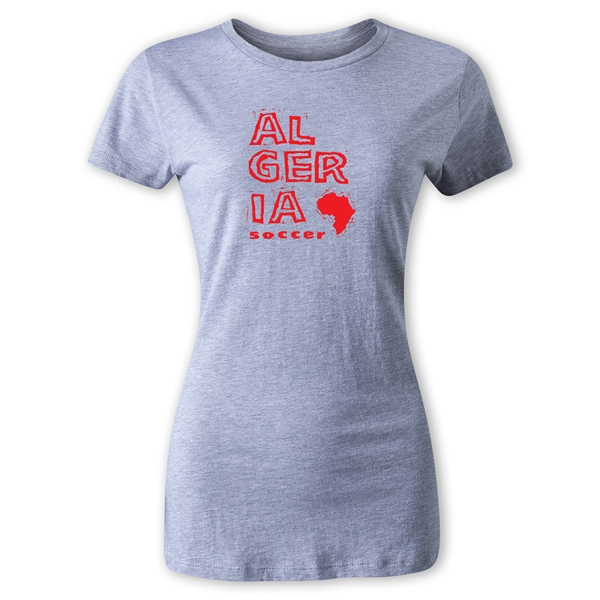 Algeria Women's Country T-Shirt (Gray)