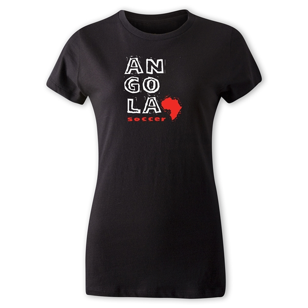 Angola Women's Country T-Shirt (Black)