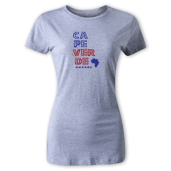 Cape Verde Women's Country T-Shirt (Gray)