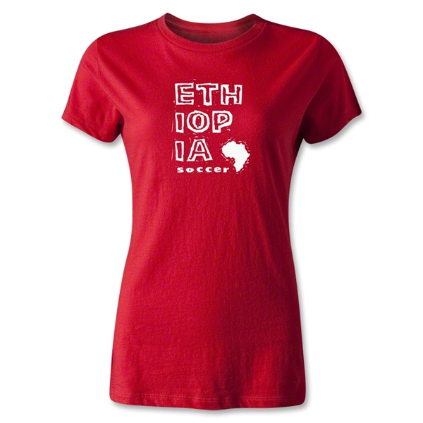 Ethiopia Women's Country T-Shirt (Red)