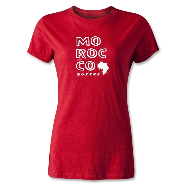 Morocco Women's Country T-Shirt (Red)