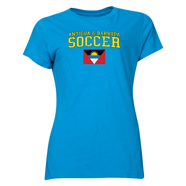 Antigua & Barbuda Women's Soccer T-Shirt (Turquoise)