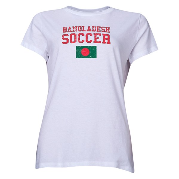 Bangladesh Women's Soccer T-Shirt (White)