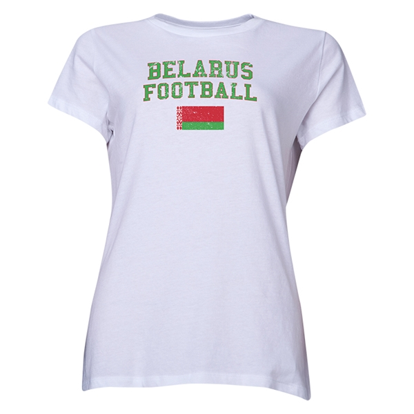 Belarus Women's Football T-Shirt (White)