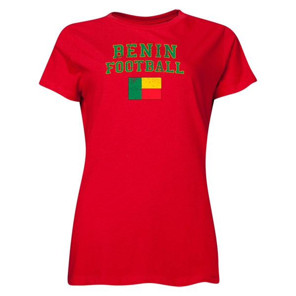 Benin Women's Football T-Shirt (Red)