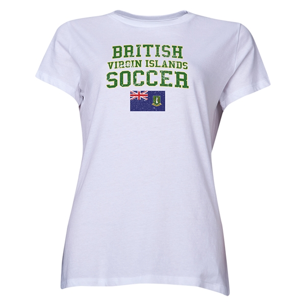 British Virgin Islands Women's Soccer T-Shirt (White)