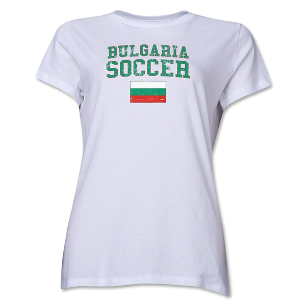 Bulgaria Women's Soccer T-Shirt (White)