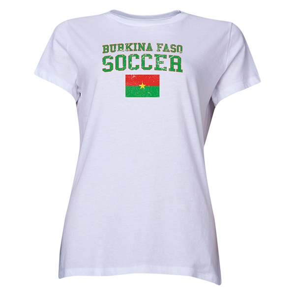 Burkina Faso Women's Soccer T-Shirt (White)
