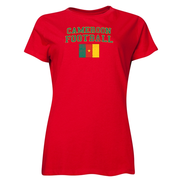 Cameroon Women's Football T-Shirt (Red)