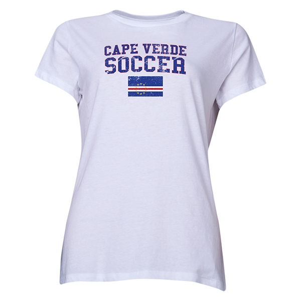 Cape Verde Women's Soccer T-Shirt (White)