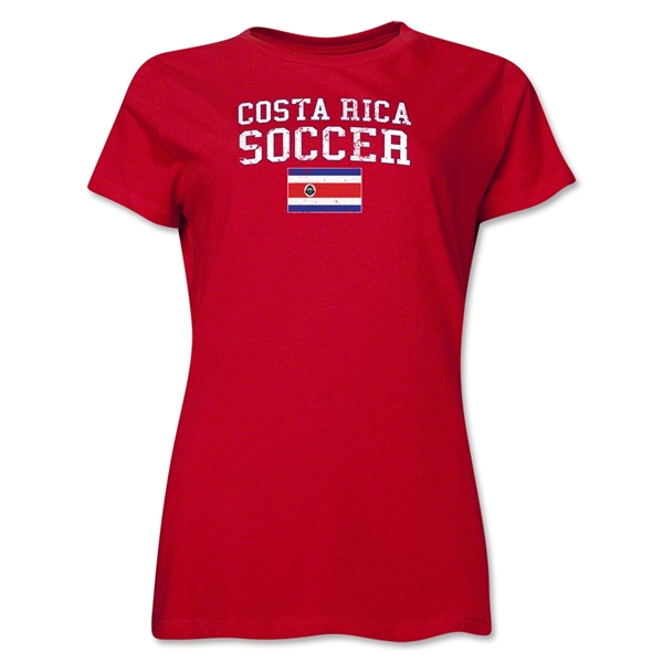 Costa Rica Women's Soccer T-Shirt (Red)