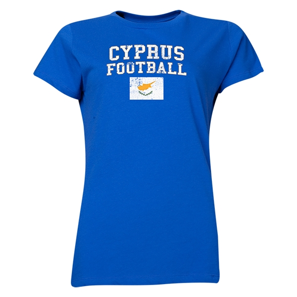 Cyprus Women's Football T-Shirt (Royal)