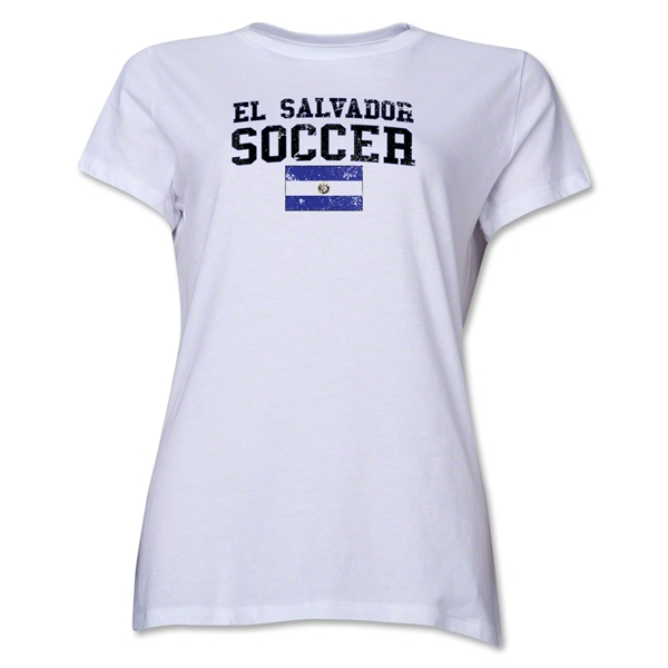 El Salvador Women's Soccer T-Shirt (White)