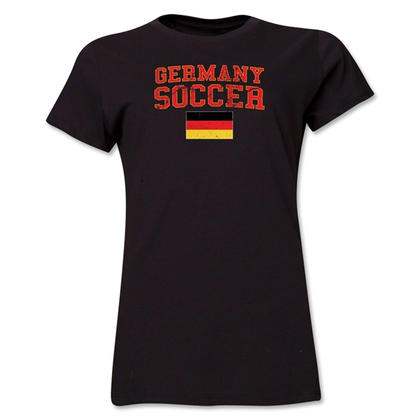 Germany Women's Soccer T-Shirt (Black)