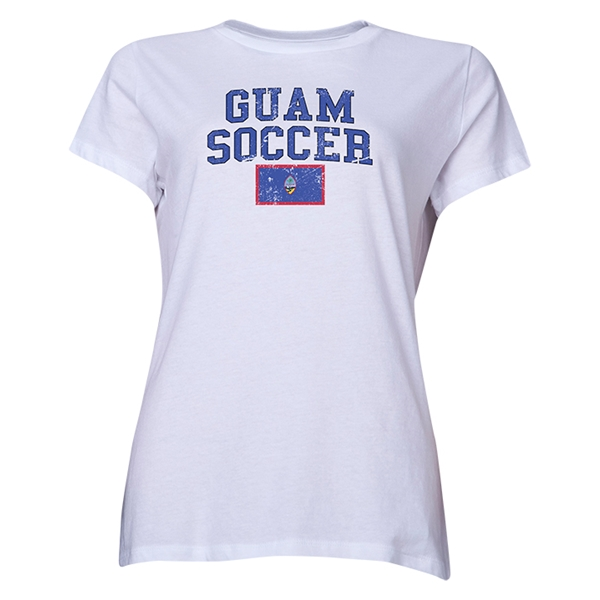 Guam Women's Soccer T-Shirt (White)