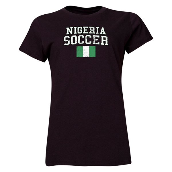 Nigeria Women's Soccer T-Shirt (Black)