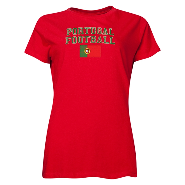 Portugal Women's Football T-Shirt (Red)