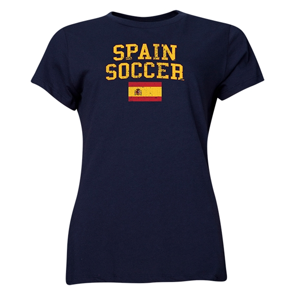 Spain Women's Soccer T-Shirt (Navy)