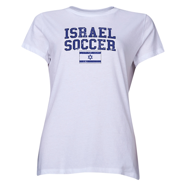 Israel Women's Soccer T-Shirt (White)