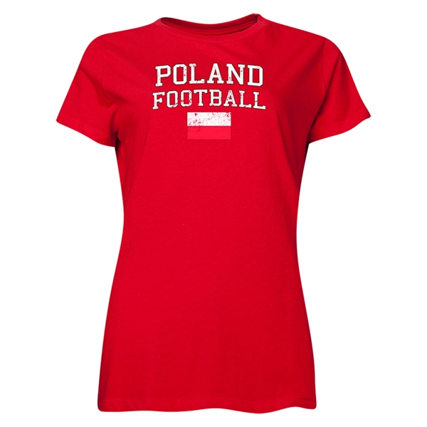 Poland Women's Football T-Shirt (Red)