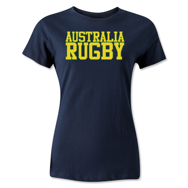 Australia Women's Supporter Rugby T-Shirt (Navy)