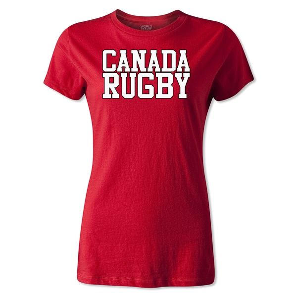 Canada Women's Supporter Rugby T-Shirt (Red)
