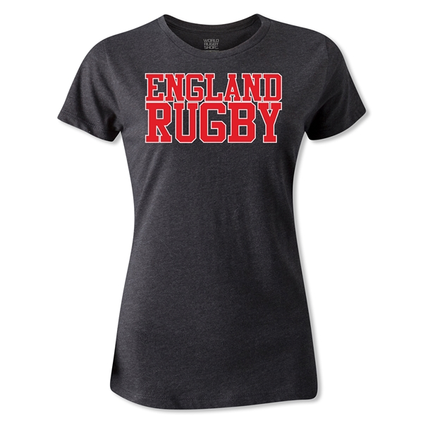 England Women's Supporter Rugby T-Shirt (Dark Gray)