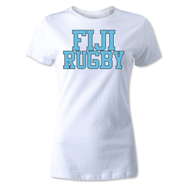 Fiji Women's Supporter Rugby T-Shirt (White)