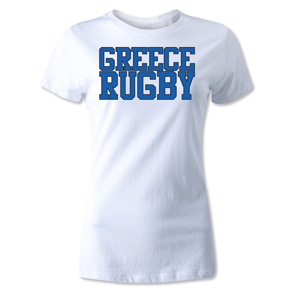 Greece Women's Supporter Rugby T-Shirt (White)